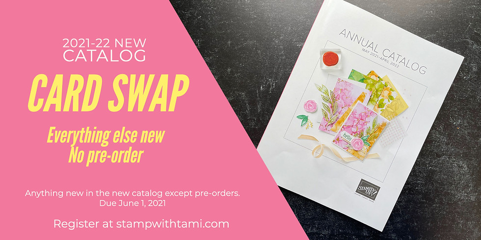New Catalog Card Swap - Everything Else New (No Pre-Order) - Due June 1