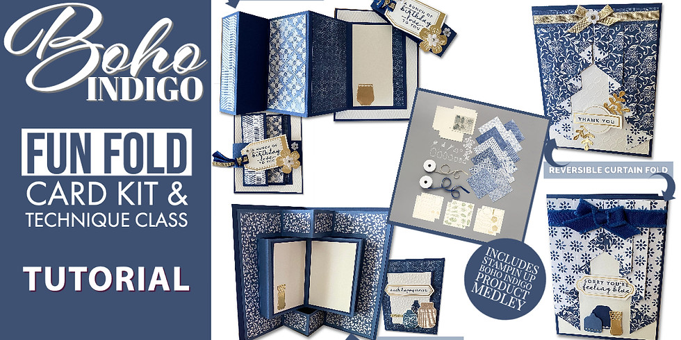 2nd chance: Boho Indigo Medley Kits and Fun Fold Card Class – ends July 9 (1)