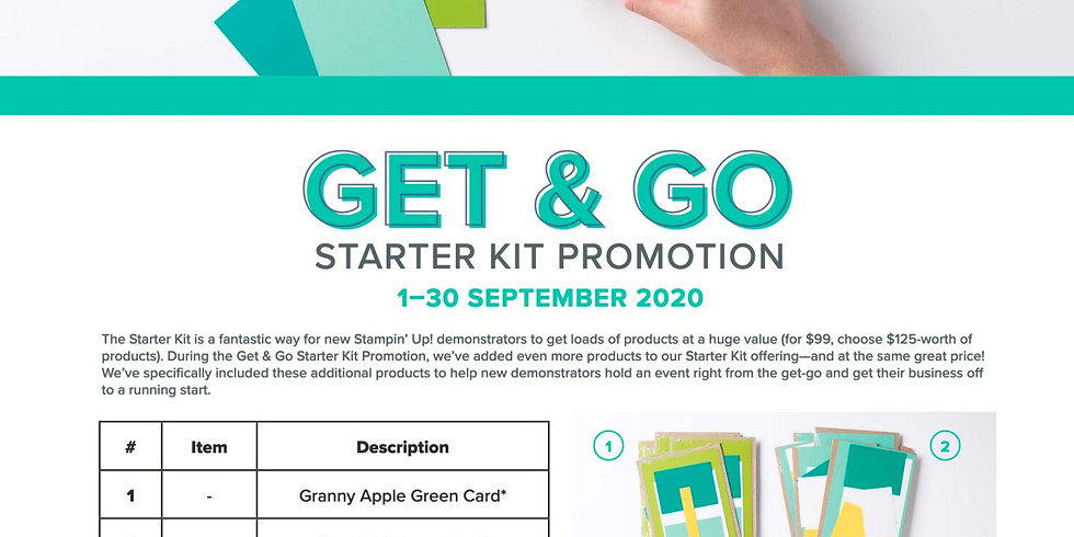 2 Free Stamp Sets and Card Kits with the Demo Kit in September