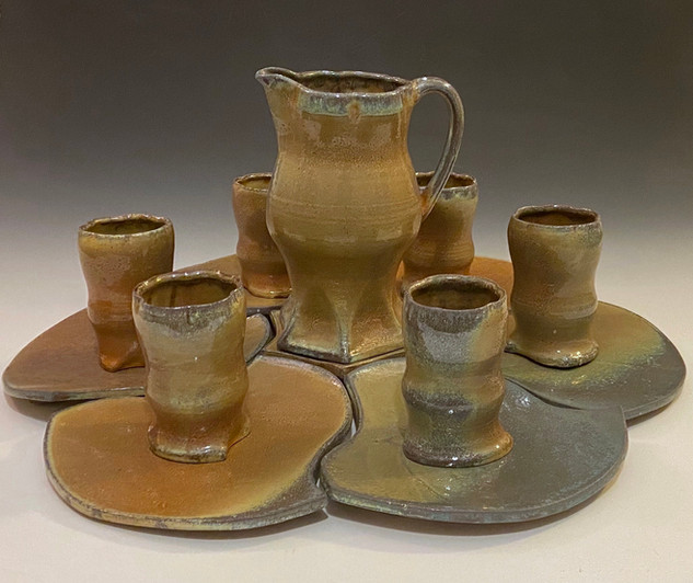 Pitcher, Tumbler, and Plate Set