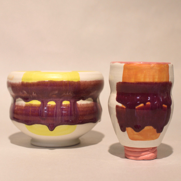 Untitled bowl and cup