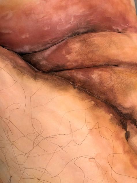 Body Pillow (Detail)-Dye on Fabric