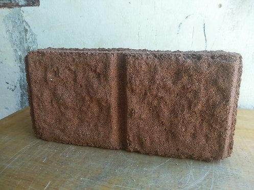 Bloque abusardado ROJO y hueco de cemento de 15cm x20cm x40cm