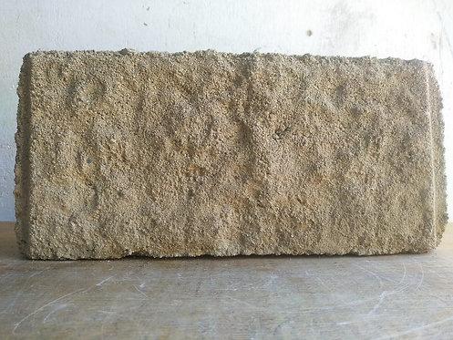 Bloque abusardado AMARILLO y hueco de cemento de 15cm x20cm x40cm
