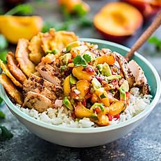 Vegan Caribbean Mango Chickn' Bowl