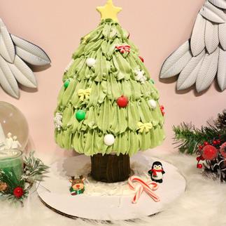 Matcha Red Bean Christmas Tree