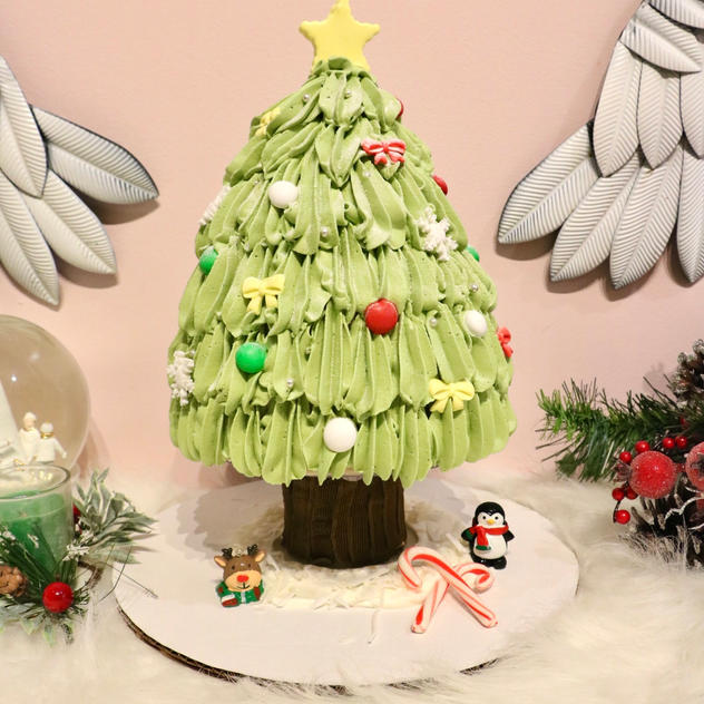 Matcha Red Bean Christmas Tree