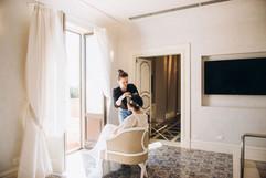 Bride's morning at Villa Athena