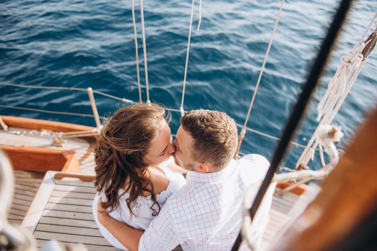 Свадьба для двоих на яхте