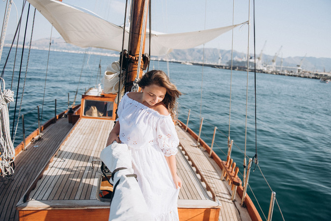Engagement on Yacht
