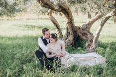 Wedding in olive grove