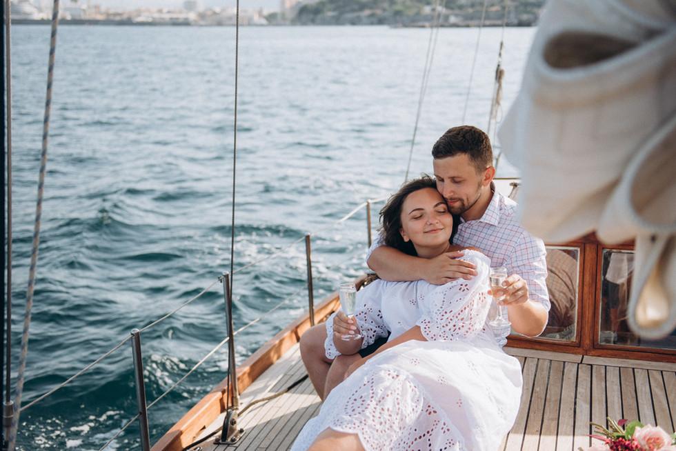 Wedding Proposal on Yacht