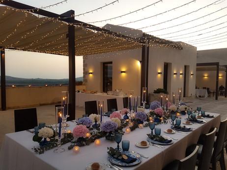 Wedding table decor by Sicilian Wedding