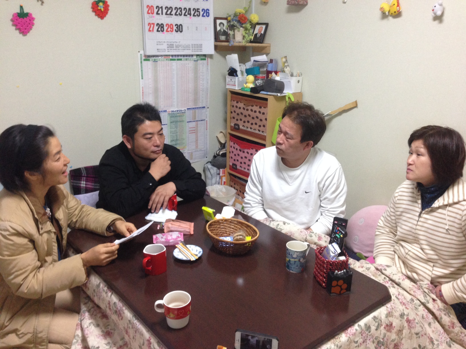 Visit to temporary housing in Fukush