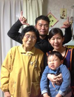 Visited family in Nihonmatsu city