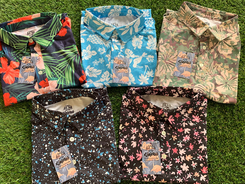 Hawaiian Golf Shirts   Crazy Golf Shirts