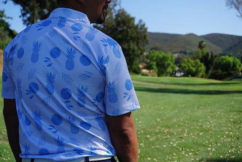 Hawaiian Golf Shirt   Pina Colada