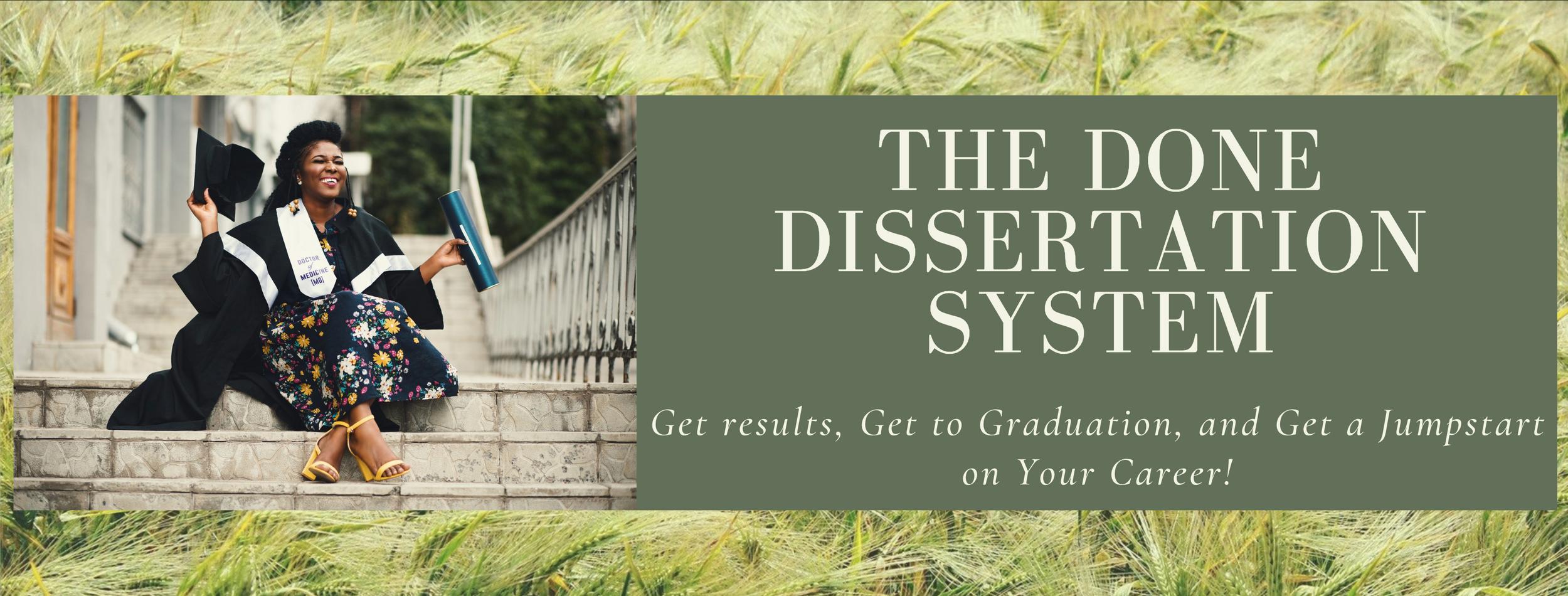 Dissertation programme