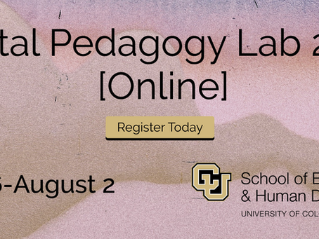 Get Ready For Fall Online With the 2020 Digital Pedagogy Lab