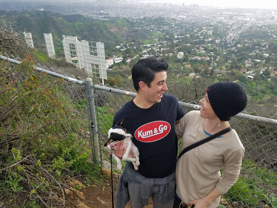 Awesome fun day hiking to the Hollywood sign with my friend Jim!!!