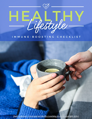 Healthy Lifestyle Immune Boosting Checklist