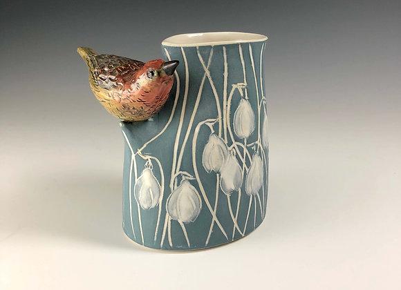 Bird Vase - Snowdrop 061