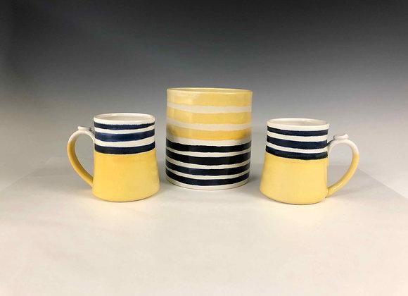 Navy and Yellow kitchen