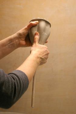 shape with thumb pressure