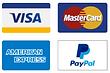 We take credit cards Visa, Mastercard, American Express and PayPal.