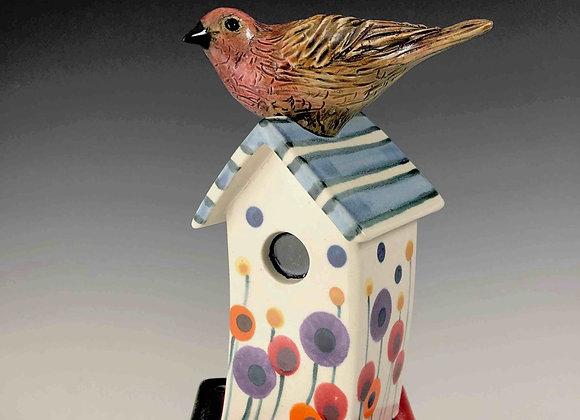 Birdhouse Fence Tile-Lolli