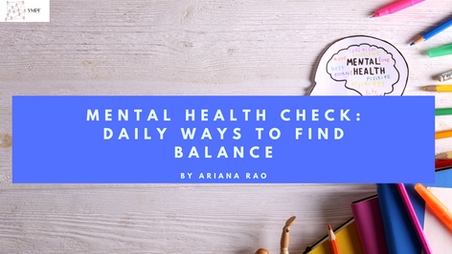 Mental Health Check: Daily Ways to Find Balance
