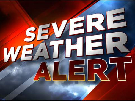 Tornadoes and possible hail up to 2 inches.  04-11-2020