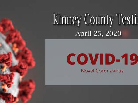 Kinney County Covid-19 Testing Information