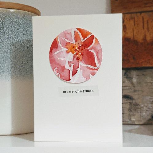 Christmas 'Poinsettia' pack 4 cards