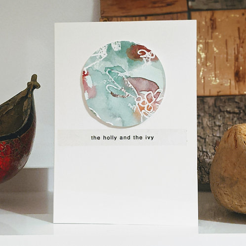 Christmas 'Holly and Ivy' pack 4 cards