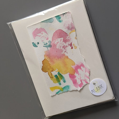 Pack of 4 flower abstract blank greetings cards
