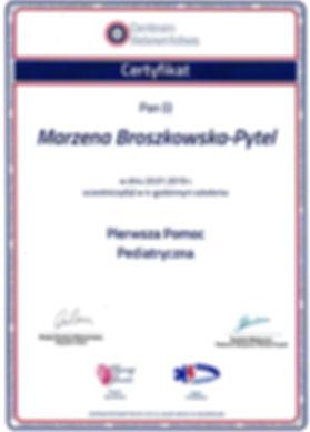 certyfikat Marzena Broszkowska- Pytel 2.