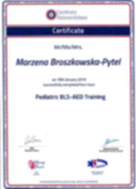 certyfikat Marzena Broszkowska- Pytel 1.