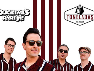 "The Kabooms. 8 Octubre. ""Ducktail's Party"" - 16 Toneladas. Valencia"