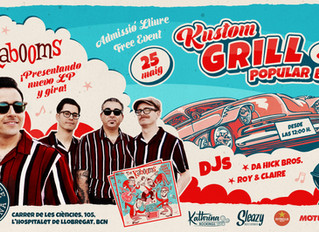 "The Kabooms ""Right Track Wrong Way"" presentacion Barcelona"