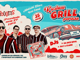 "The Kabooms ""Right Track Wrong Way"" presentacion Barcelona"
