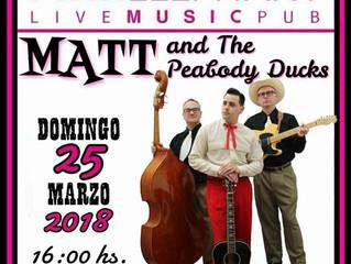 Matt & The Peabody Ducks + The KaboomsSpain Southern Tour