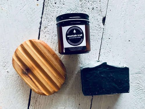 Candle +Soap + Soap Stand Gift Set