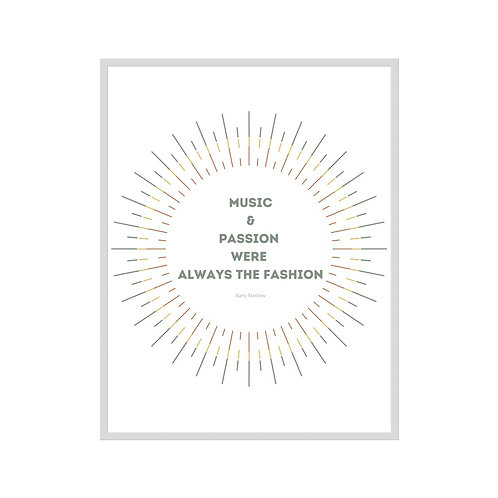 Music & Passion - Downloadable Print