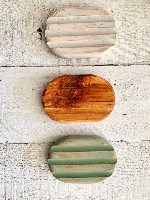 Handcrafted Cedar Soap stands