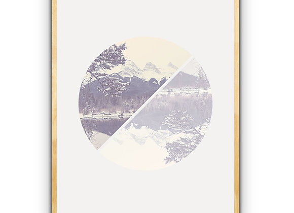Three Sisters Reflection -Vintage Style Downloadable Print
