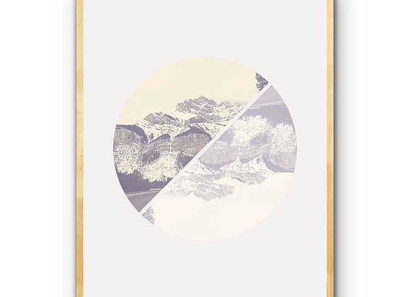 Cascade Reflections - Vintage Style Downloadable Print