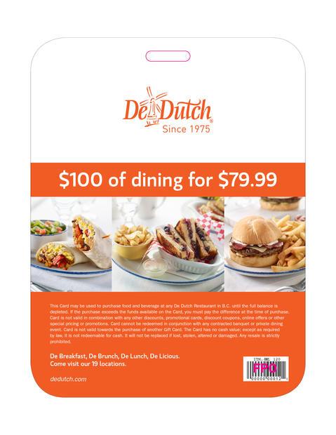 DeDutch Gift Card