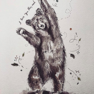 Bear Hug Illustration