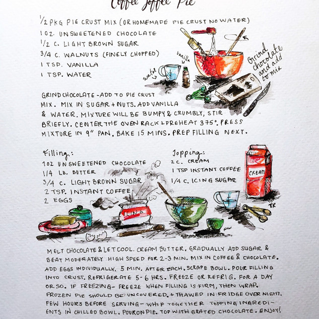Handmade Recipe Card